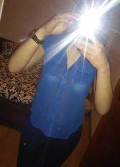 Kup mój przedmiot na #vintedpl http://www.vinted.pl/damska-odziez/koszule/12012759-zwiewna-niebieska-koszula-z-croppa