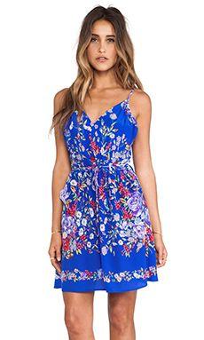 Yumi Kim Goddess Dress in Blue Flower Power Print