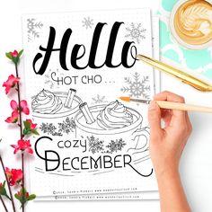 Free Printable Hello December Bullet Journal Spread - Wundertastisch