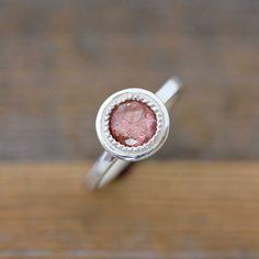 Oregon Sunstone Ring in Sterling Zilver Vintage door onegarnetgirl