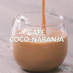 ¡Uy! Para ese antojo dulce después de la comida este #CAFÉ de #COCO y #NARANJA te encantará Healthy Smoothies, Healthy Drinks, Smoothie Recipes, Starbucks Drinks, Coffee Drinks, Starbucks Coffee, Tasty Videos, Food Videos, Cocktail Videos