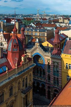 The rooftops of Praha (Jubilejní synagoga) | Czech Republic