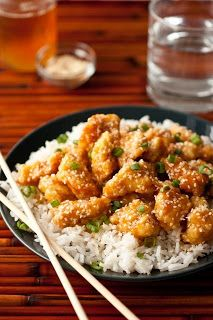 Honey Sesame Chicken: Fantastic! I made this a little lighter by using half the amount of egg and cornstarch. Sauteed it vs. frying and it was still awesome.