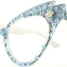 Vintage 50s Cat Eye Glasses Frame by VintageEyeglassesCat on Etsy, $120.00