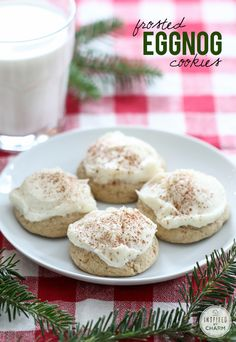 Frosted Eggnog Cookies | Holiday Christmas Cookie Recipe