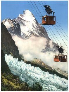 Berner Oberland. Wetterhorn-Aufzug mit Eiger.      #Europe #Suisse_Schweiz