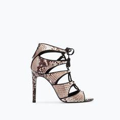 ZARA Snake/Crocodile Heels Shoes | I'm sad not having you in my room |