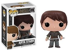 Who couldn't love little Arya, she's got such spunk and her story in Game of Thrones is among the bst? This POP Game of Thrones Arya Stark Vinyl Figure even has her holding Needle, her sword! Pop Vinyl Figures, Funko Pop Figures, Funko Game Of Thrones, Game Of Thrones Arya, Catelyn Stark, House Stark, Tim Burton, Familia Stark, Pop Games