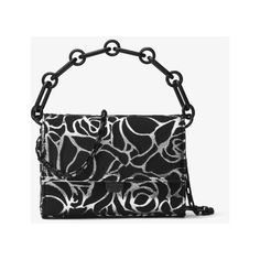 Michael Kors Collection Yasmeen Small Rose Jacquard Clutch ($362) ❤ liked on Polyvore featuring bags, handbags, clutches, cocktail purse, metallic clutches, top handle handbags, convertible handbag and special occasion handbags