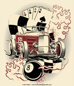 Tattoo idea for André Laubach #hotrod #hot #rod #tattoo #design