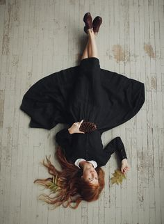 BLACK PANSY Classic Dress Long sleeve White by SondeflorShop