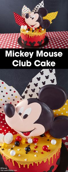 Show your love of Disney Mickey Mouse with this Mickey Mouse Club Cake…