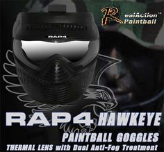 RAP4 Hawkeye Paintball Goggle - recommended by Warfighters Paintball & Laser Combat Centre, Northamptonshire/Warwickshire #paintball  http://www.warfighters.co.uk  http://www.rap4.com/rap4-hawkeye-paintball-goggle-military-combat-training-a-227.html