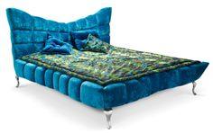 Bretz-bed-Ocean blue-velvet Cloud 7.  Gorgeous bed without a room!