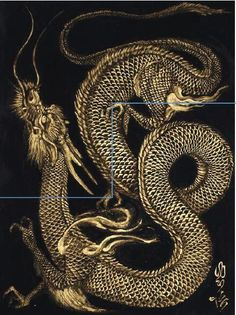 30 legendary Chinese dragons illustrations and paintings - Happy New Year . - 30 legendary Chinese dragons illustrations and paintings – Happy New Year 2012 by Born To Raise H - Japanese Dragon, Japanese Art, Fantasy Creatures, Mythical Creatures, Yi King, Orca Tattoo, Tiger Tattoo, Tattoo Ink, Sleeve Tattoos