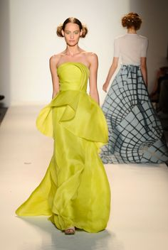 Lela Rose Spring/Summer 2014 | The Trend Report: Mellow Yellow http://aol.it/1ny7R6m