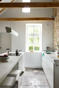 "This bright kitchen is from our feature ""Rural Welcome"""