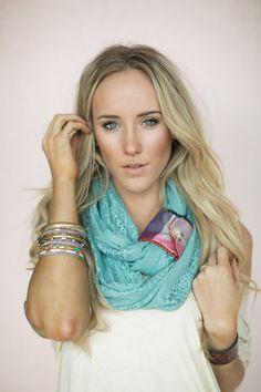 Mint Lace Infinity Scarf Loop Scarves Boho door ThreeBirdNest, $48.00