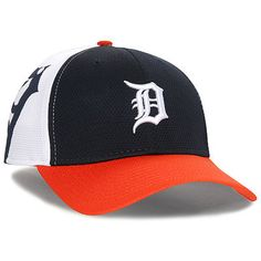 bc6ca19c Detroit Tigers New Era Logo Stretch 39THIRTY Performance Flex Hat -  White/Orange