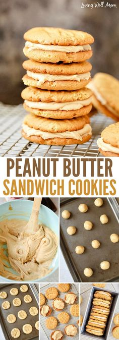 Peanut Butter Sandwich Cookies takes a delicious chewy peanut butter cookie and nestles a creamy peanut butter filling in the middle. If you like peanut butter cookies, you're going to love this easy recipe!