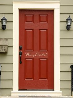Merry Christmas Decal Front Door Decal By StephenEdwardGraphic, $5.00  Christmas Door, Merry Christmas,