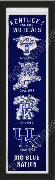 This University of Kentucky heritage banner framed to 8 x 32 inches. $89.99 @ ArtandMore.com
