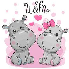 Cute Cartoon Pictures, Cute Cartoon Drawings, Cartoon Pics, Cartoon Hippo, Cute Cartoon Animals, Cute Hippo, Baby Hippo, Animated Frog, Hippo Drawing