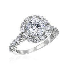 Diamond 3 Prong Halo #EngagementRing I @Gumuchian Jewels I http://www.weddingwire.com/wedding-photos/jewelry/gumuchian/i/0086ed7a585f5bad-e91a0fb9f3923a2a/eb89236b36ed4d30