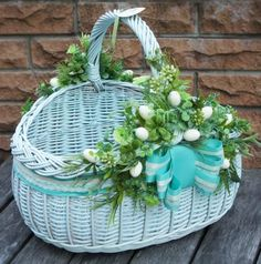 Tobacco Basket, Wicker Baskets, Birds, Spring, Holiday, Flowers, Diy, Home Decor, Packing
