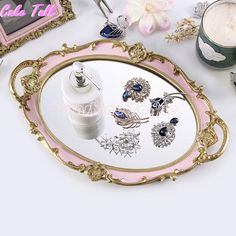 European round tray decoration for cupcake jewelry tray cupcake plate perfume holder wedding party supplier Paint Furniture, Furniture Repair, Copper Utensils, Vintage Photo Frames, Decoupage Glass, Party Suppliers, Round Tray, Jewelry Tray, Vintage Crafts