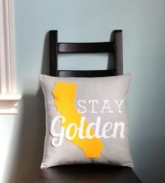 Awesomesauce. Love this. :: pillow by HomeStateHome