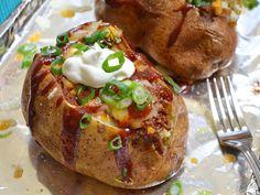 BBQ Beef Stuffed Potatoes