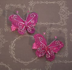 A personal favorite from my Etsy shop https://www.etsy.com/listing/182067740/hot-pink-butterfly-hair-clips-butterfly