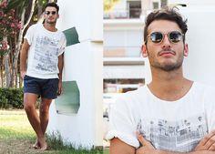 Zara Shirt, Camo Shorts