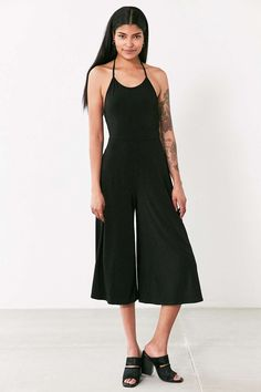 Silence + Nose Strappy-Back Knit Culotte Jumpsuit - Urban Outfitters