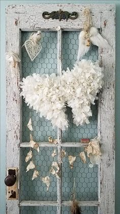 White Tattered Angel Wings  Vintage Shabby by LittlePrairieSparrow