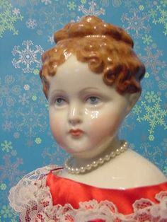 Parian china painted doll German Fashion, French Fashion, Antique China, Vintage China, Antique Dolls, Vintage Dolls, Cuba Stock, Valley Of The Dolls, Doll Painting