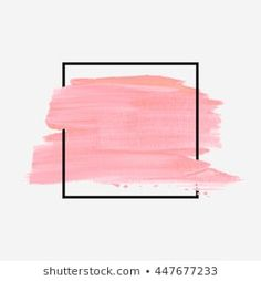 Similar Images, Stock Photos & Vectors of Abstract pink brush background with rectangle geometric frame rose gold color. Logo background for beauty and fashion - 1316150948 Brush Background, Banner Background Images, Logo Background, Texture Painting, Paint Texture, Abstract Backgrounds, Abstract Art, Creative Instagram Photo Ideas, Disney Princess Drawings