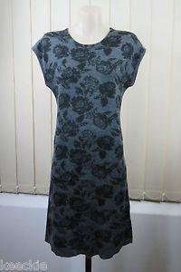 Size XS 8 10 Blue Illusion Ladies Grey Knit Tunic Dress Casual Boho Chic Design | eBay