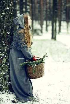 A cloak is beautiful and in bad weather just makes more sense. Covered from head to toe