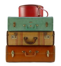 Vintage luggage is so evocative...love to decorate with it.