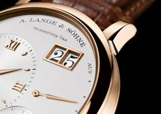 A. Lange & Söhne Grand Lange 1.  The Grand Lange 1, which boasts not only a larger case (40.9-mm diameter, as opposed to the original's 38.5 mm) and elegantly scaled-up dial design, but also a brand-new manufacture movement, Lange's hand-wound Caliber L095.1.