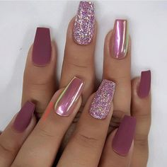 80 the most popular nail type 80 die beliebtesten Nail Typ 2019 Which nail shape do you like? Take a look at the over 80 most popular nail art ideas we& collected below. You will find the perfect … - Cute Acrylic Nails, Glitter Nail Art, Nail Art Diy, Diy Nails, Nail Nail, Nail Art Ideas, Acrylic Nail Designs Glitter, Popular Nail Art, Gorgeous Nails