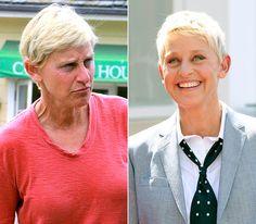 16 Shocking Photos Of Celebrities Before And After Makeup - Ellen DeGeneres
