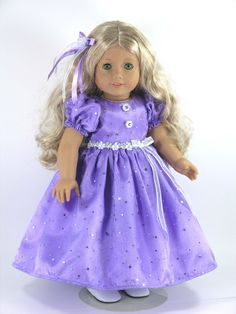 18 inch American Girl Doll Clothes Dress by LidiDesigns on Etsy