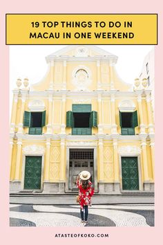 19 Top Things To Do In Macau In One Weekend | www.atasteofkoko.com Macau Travel, Asia Travel, Solo Travel, Wanderlust Travel, Vacation Places, Places To Travel, Travel Destinations, Places To Go, Adventure Bucket List