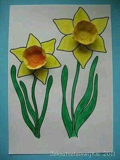Kids Craft ideas from Holland Cute Kids Crafts, Spring Crafts For Kids, Spring Projects, Crafts To Do, Preschool Crafts, Easter Crafts, Diy For Kids, Arts And Crafts, Spring Theme