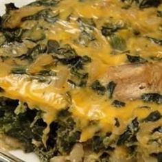 Easy Spinach Casserole With Frozen Chopped Spinach, Cream Cheese, Seasoning Salt, Dried Bread Crumbs Spinach Enchiladas, Spinach Casserole, Vegetable Side Dishes, Vegetable Recipes, Spinach Souffle, Cooking Recipes, Healthy Recipes, Healthy Eats, Healthy Foods