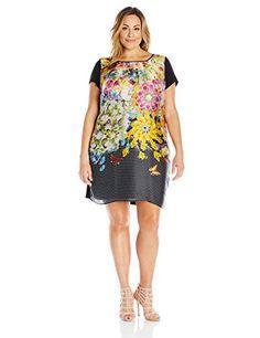 Single Dress Women's Plus-Size Printed Front Short Sleeve Dress