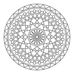 Printable Mandala site…great for extra time after kids finish projects
